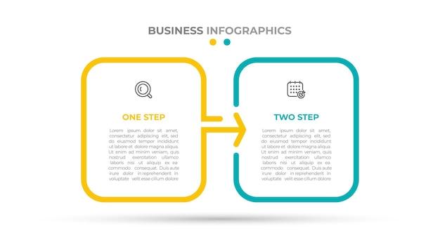 연례 보고서에 대한 두 가지 옵션 infographic 템플릿 디자인