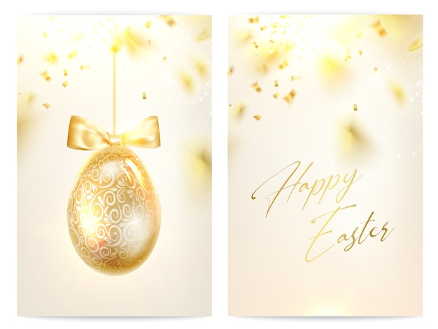 Two pages of happy easter greeting cards.