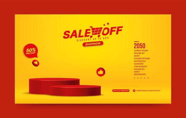 Два пьедестала для фона презентации продукта пустая сцена на подиуме для публикации в социальных сетях