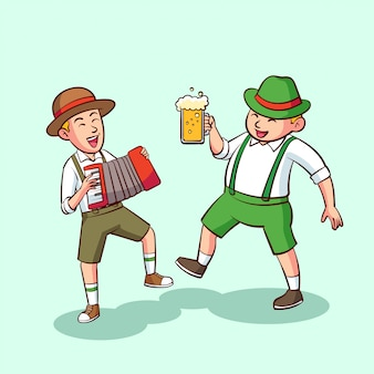 Two people are celebrating octoberfest