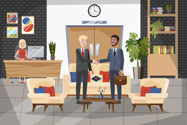 Two people shaking their hands. business deal