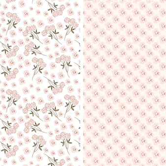 Two pink flowers patterns