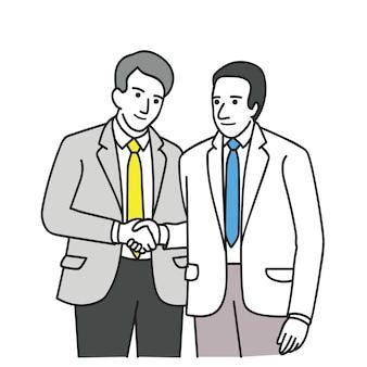 Два политика делает соглашение
