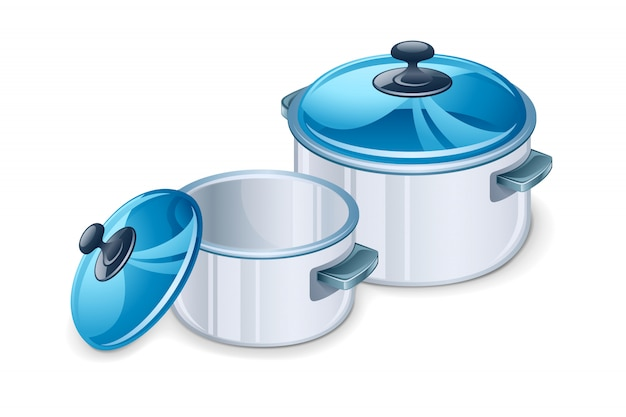 Two saucepan  illustration