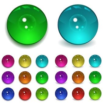 Два набора разноцветных бусин с разными тенями