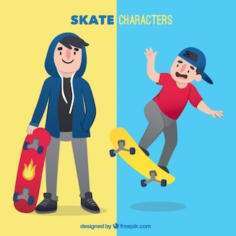 Two skate characters