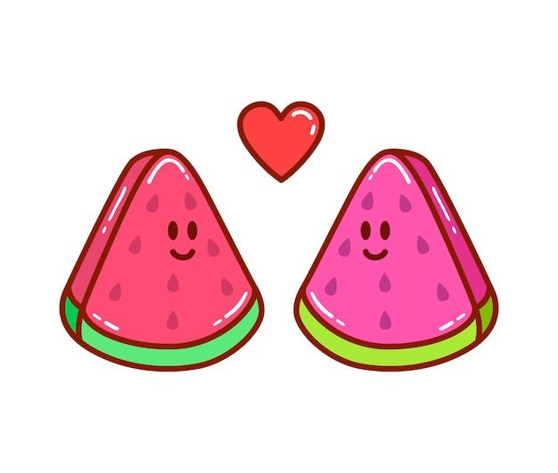 Два кусочка арбуза влюблены друг в друга