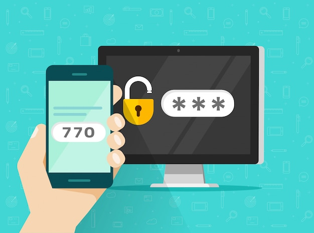 Two step authentication on mobile phone