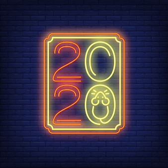 Two thousand twenty neon sign