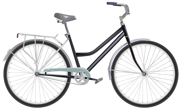 Two-wheeled single-speed bicycle