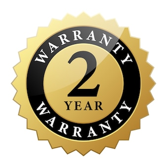 Two years warranty black gold glossy metallic