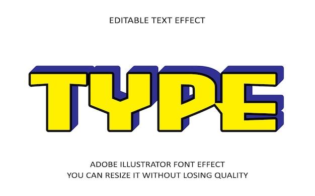 Type editable text effect