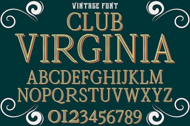Typeface font design club virgina