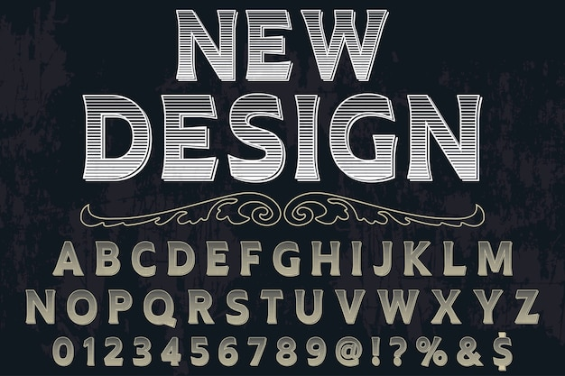 Typeface label new design