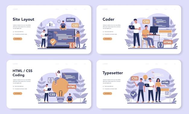 Typersetter web banner or landing page set