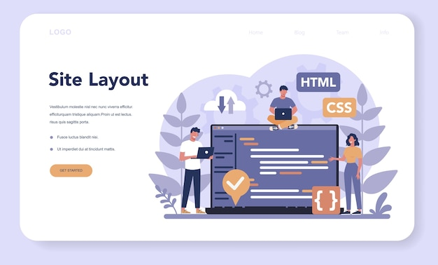 Typersetter web banner or landing page