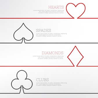 Types of casino cards