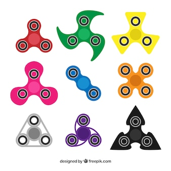 Types of colored spinners