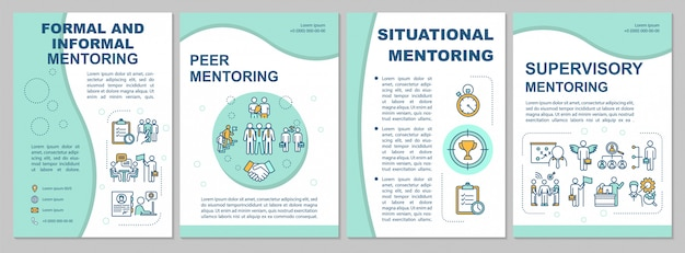 Types of mentoring brochure template