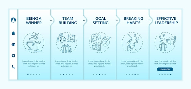 Types of motivational content onboarding template