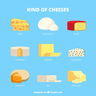 Types of delicious cheese
