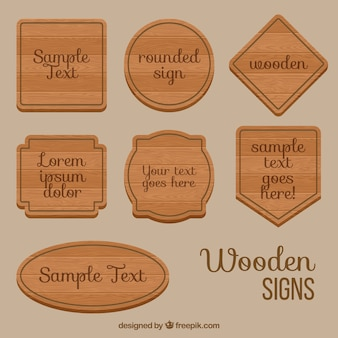 Types of wooden signs