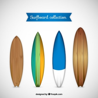 Types of wooden surfboards