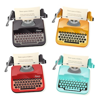 Typewriter flat set