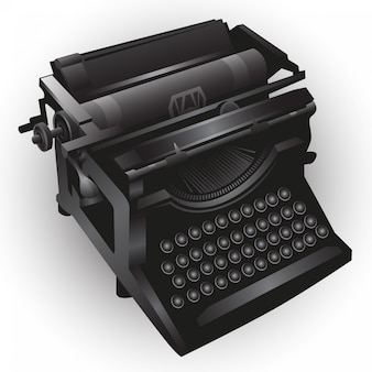 Typewriting illustration