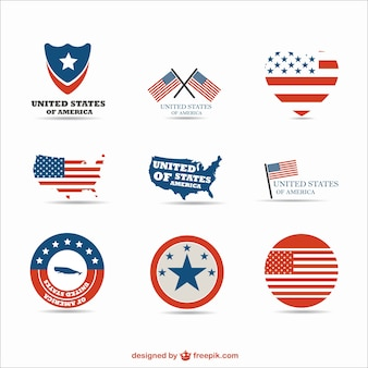 Typical usa elements labels