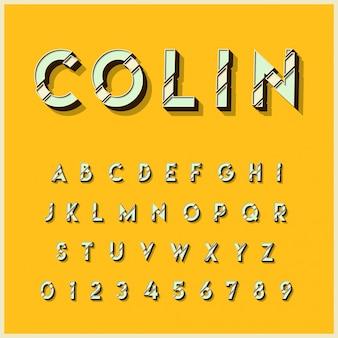 Набор типографских 3d-алфавитов