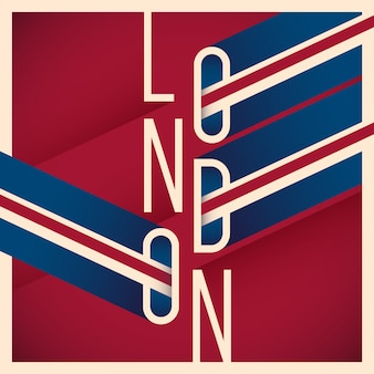 Typographic london background