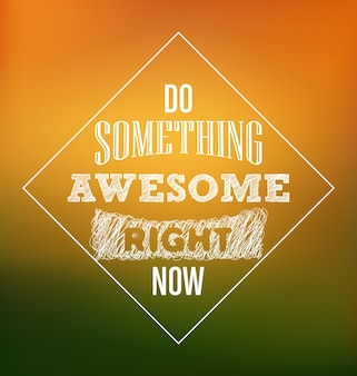 Typographic motivational design