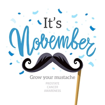 Typographic movember design