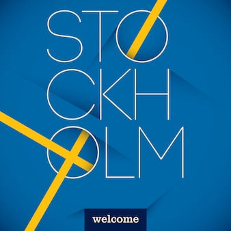 Typographic stockholm background