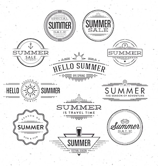 Typographic summer designs