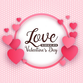 Typographic valentine's day design