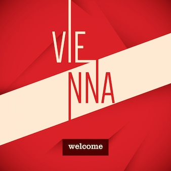 Typographic vienna background