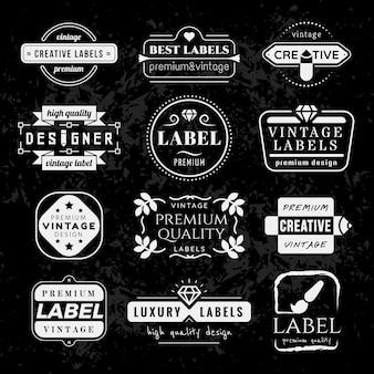 Typographic vintage label