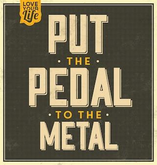 Typographic style vintage citazione