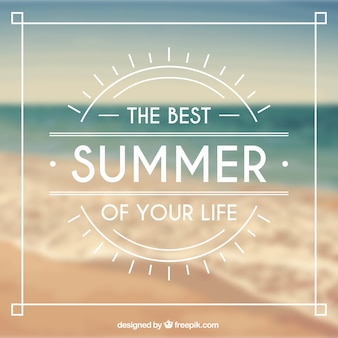 Typographical background for summer