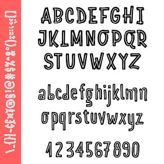 Typography alphabet logo font Premium Vector
