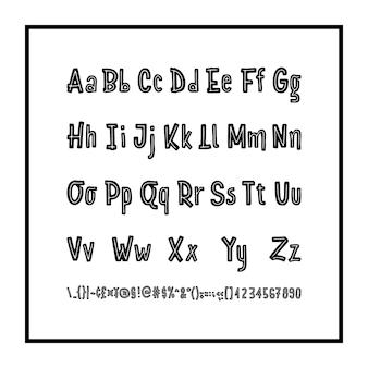 Typography alphabet logo font
