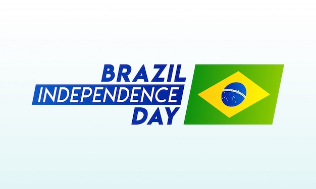 Typography of brazil independence day