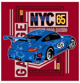 Typography car racing