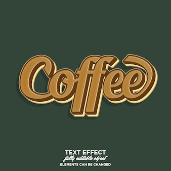 Typography for coffee product