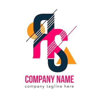 Typography color creative logo vector