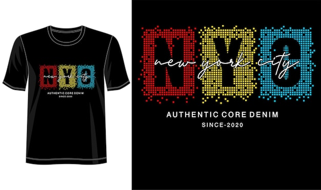 Типографский дизайн для футболки с принтом и не только