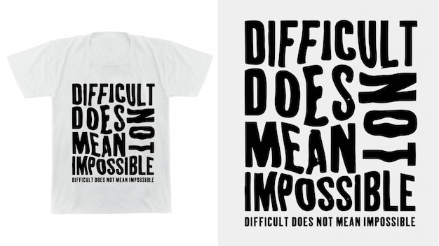 Typography design for print t shirt