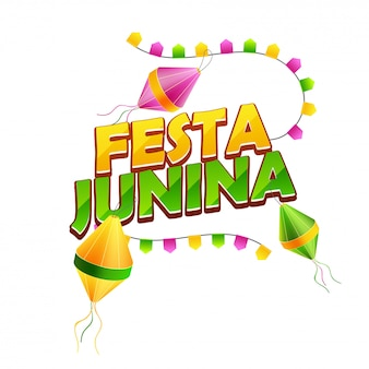 Typography of festa junina
